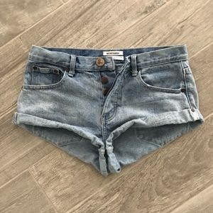 One x One Teaspoon Bandit Shorts